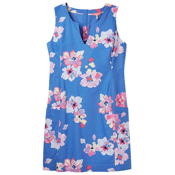 Joules Elayna Blue Floral Shift Dress Size 14