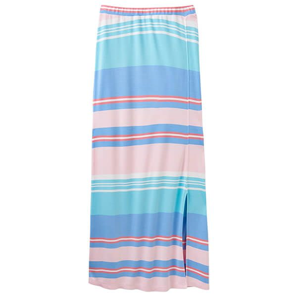 Joules Marion Multi Stripe Jersey Maxi Skirt