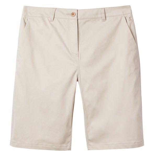 Joules Cruise Long Ivory Longer Length Chino Shorts Size 18
