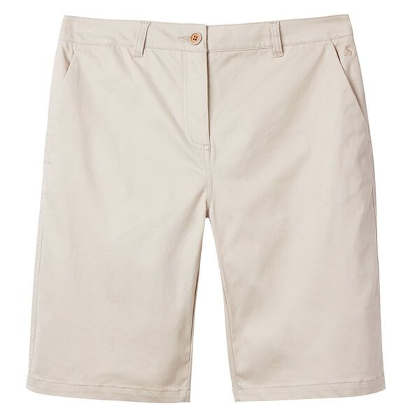 Joules Cruise Long Ivory Longer Length Chino Shorts