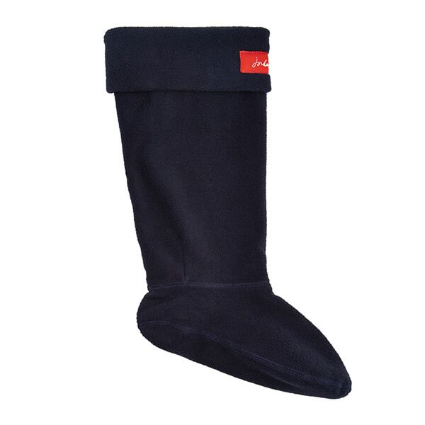 Joules Marine Navy Welton Fleece Welly Liners Size 7-8