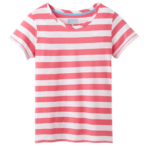 Joules Nessa Stripe Pink White Stripe Lightweight Jersey T-Shirt Size 16