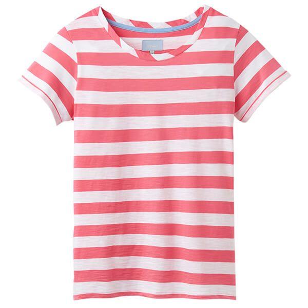 Joules Nessa Stripe Pink White Stripe Lightweight Jersey T-Shirt Size 14