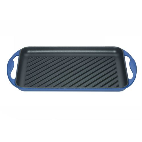 Le Creuset Marseille Blue Cast Iron 32.5cm Rectangular Grill