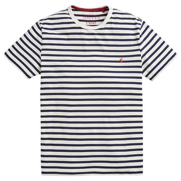 Joules Boathouse Cream Navy Stripe Striped Crew Neck Tee