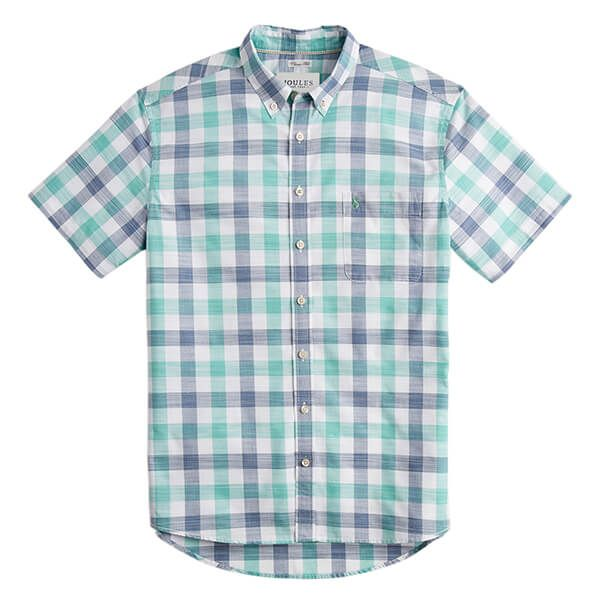 Joules Wilson Green Check Short Sleeve Classic Fit Check Shirt