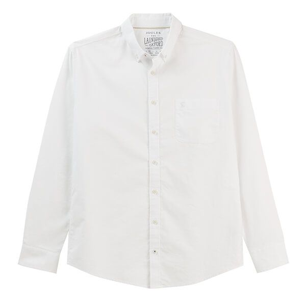 Joules White Long Sleeve Classic Fit Oxford Shirt