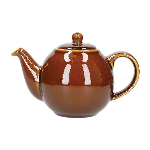 London Pottery Globe 2 Cup Teapot Rockingham Brown