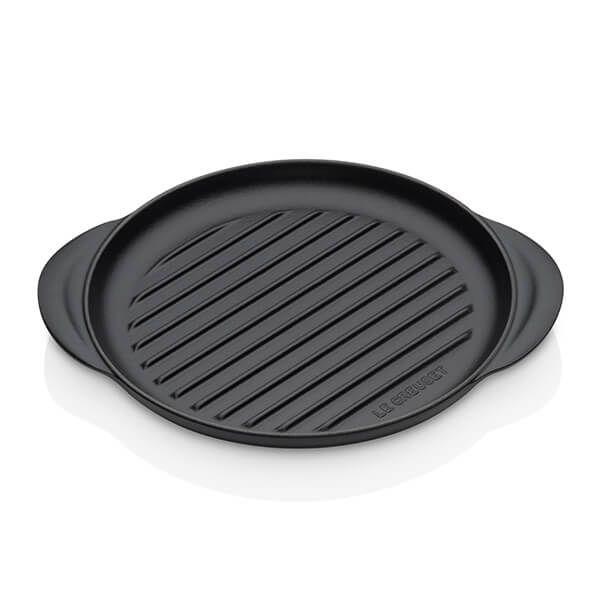 Le Creuset Satin Black Cast Iron 25cm Round Grill