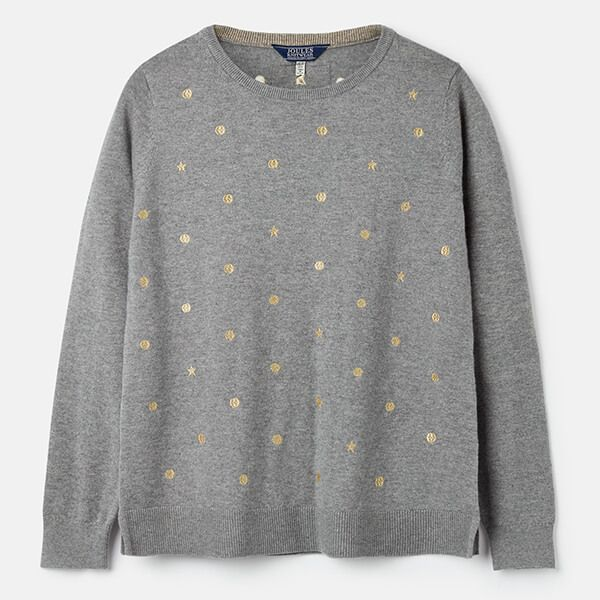 Joules Holly Grey Marl Crew Neck Jumper