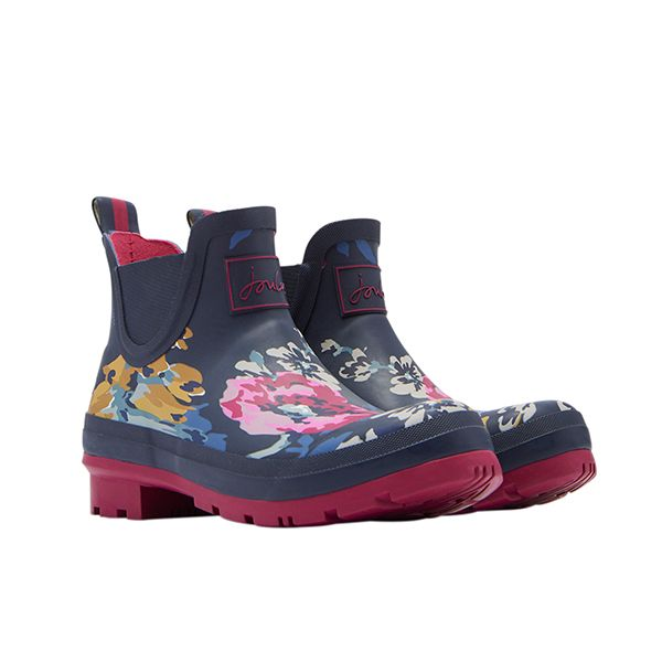 Joules Wellibob Anniversary Floral Short Height Printed Wellies Size 6