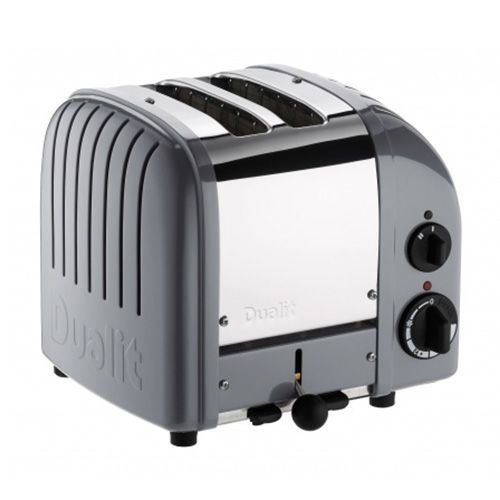 Dualit Classic Vario AWS Cobble Grey 2 Slot Toaster With Free Gift