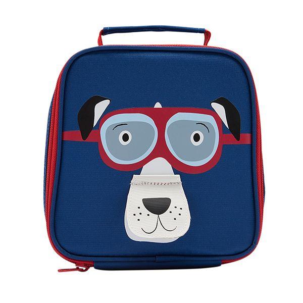 Joules Munch Dark Blue Dog Lunch Bag