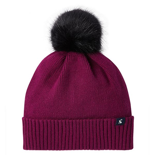 Joules Snowday Berry Blush Lightweight Knitted Hat
