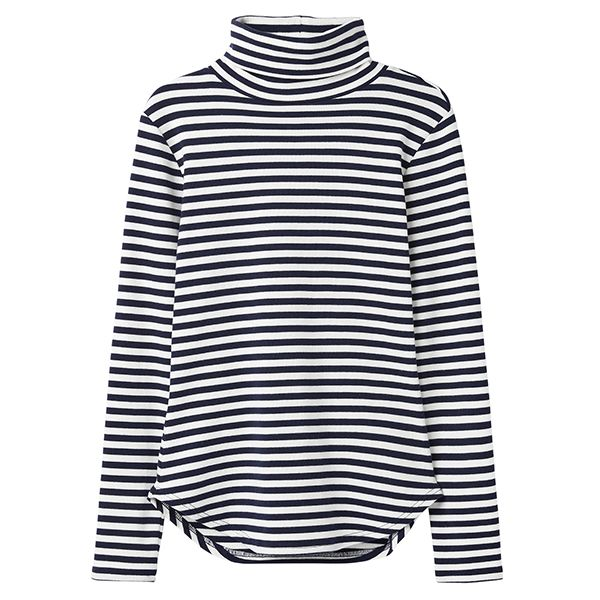 Joules Clarissa Cream Blue Stripe Roll Neck Jersey Top Size 14
