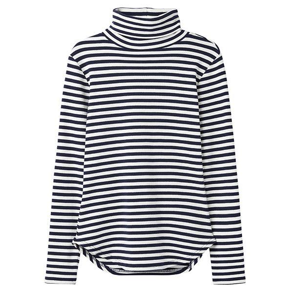 Joules Clarissa Cream Blue Stripe Roll Neck Jersey Top Size 12