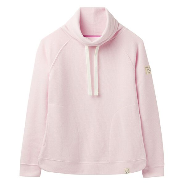 Joules Nadia Soft Pink Mouse Ribbed Sweatshirt