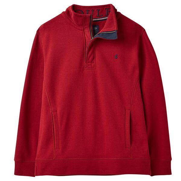 Joules Deckside Deep Red Half Zip Sweatshirt