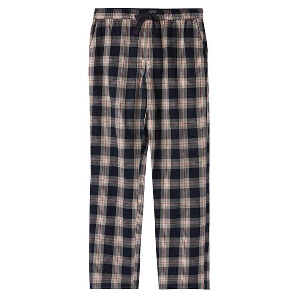 Joules The Sleeper Navy White Check Lounge Trousers Size S