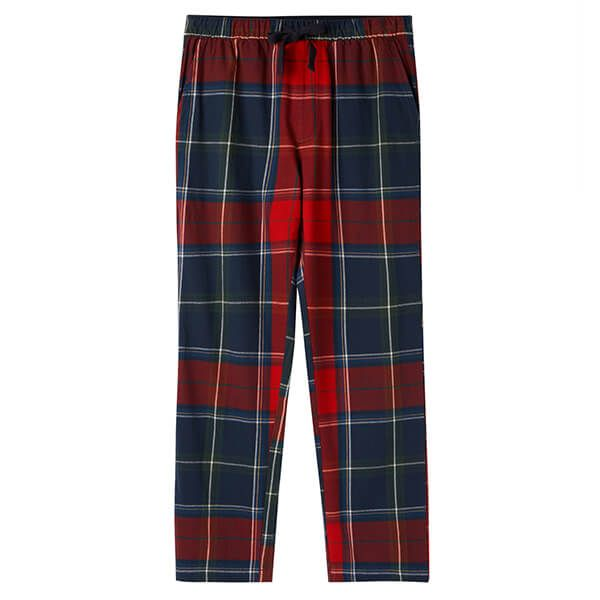 Joules The Sleeper Red Multi Check Lounge Trousers Size XL