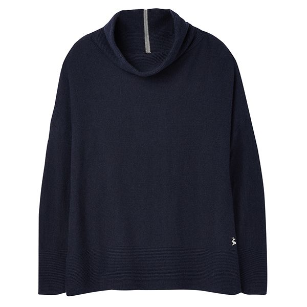 Joules Juniper French Navy Cosy Dropped Shoulder Top Size 14
