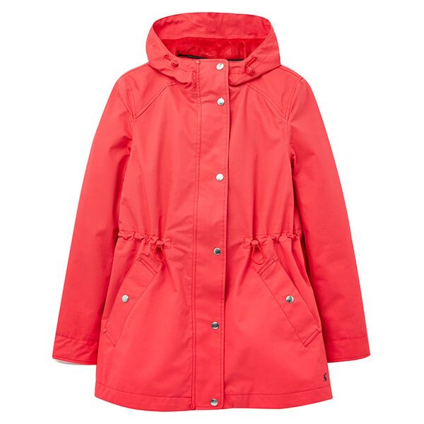 Joules Poppy Shoreside Waterproof A-Line Coat Size 12