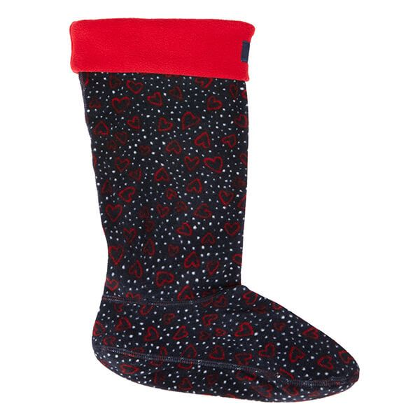 Joules Welton Printed Fleece Welly Liners Size 7-8