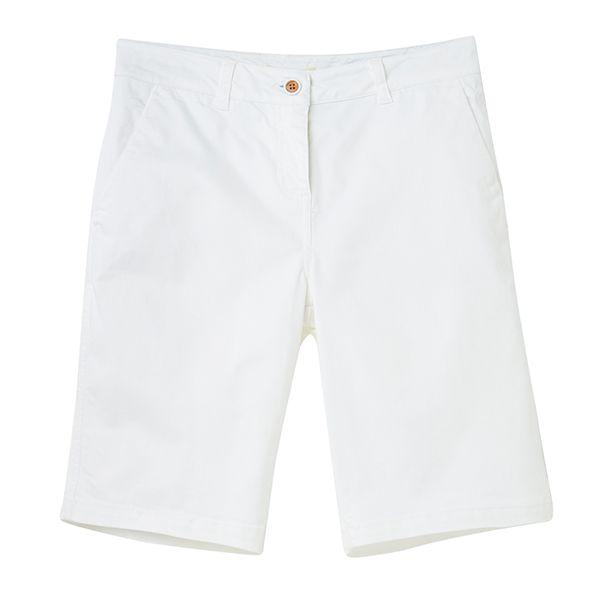 Joules Bright White Cruise Longer Length Chino Shorts