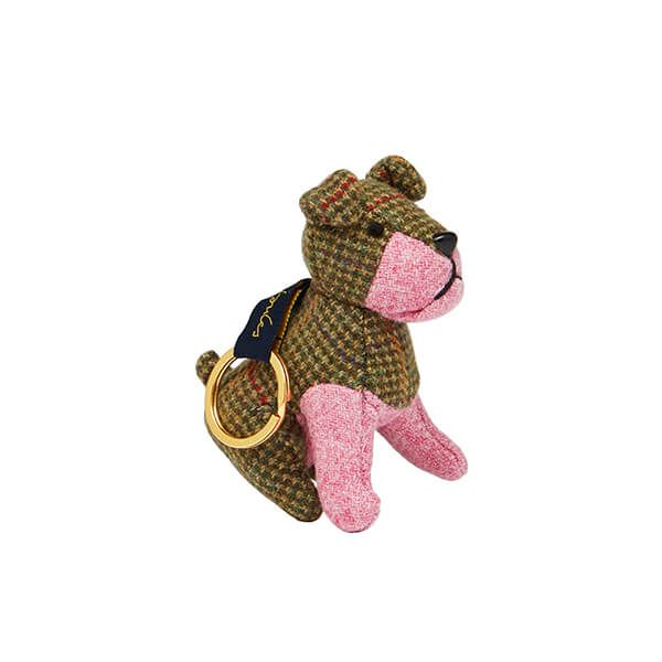 Joules Dog Novelty Tweed Keyring