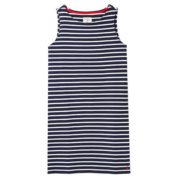 Joules French Navy Stripe Riva Sleeveless Jersey Dress