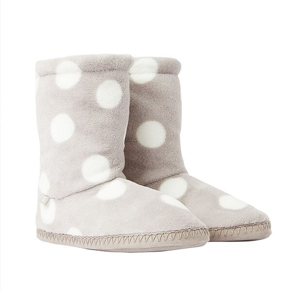 Joules Homestead Oatmeal Spot Slipper Socks Size L