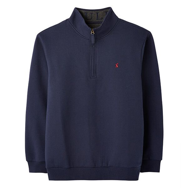 Joules French Navy Drayton Clean Quarter Zip Sweat
