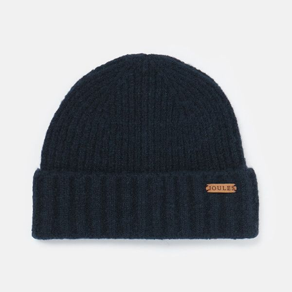 Joules French Navy Bamburgh Knitted Hat
