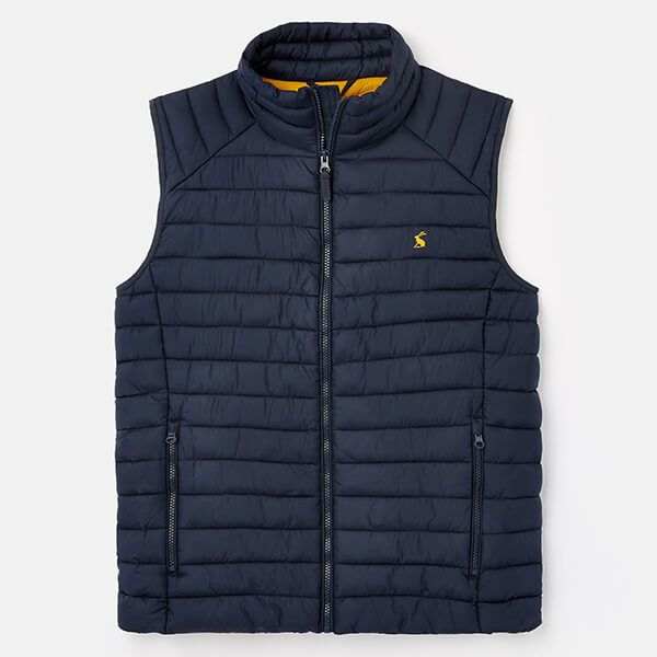 Joules Marine Navy Go To Lightweight Barrel Gilet Size L