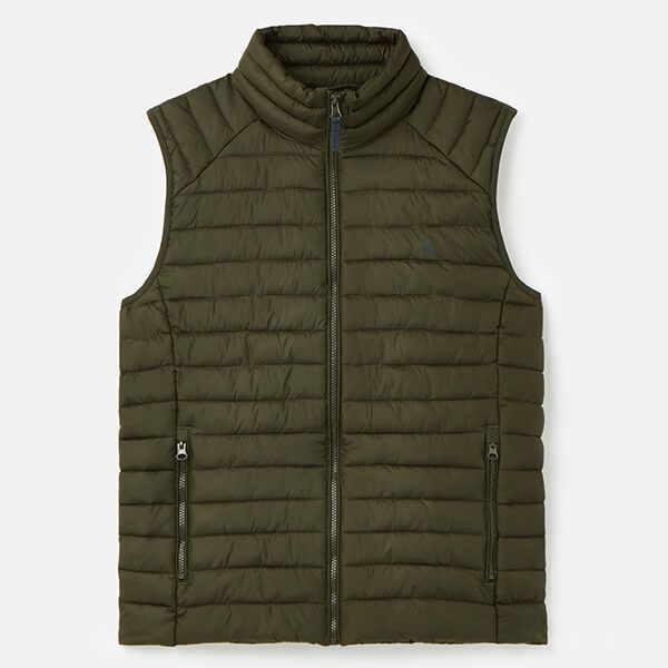 Joules Olive Go To Lightweight Barrel Gilet Size S
