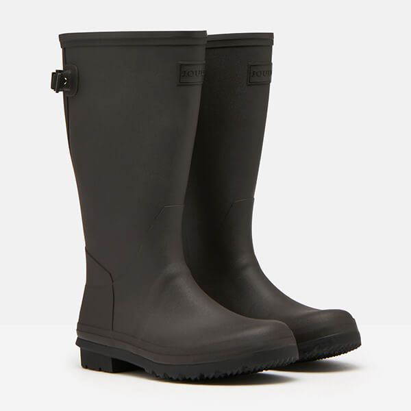 Joules Black Fieldmoore Tall Wellies with Neoprene Lining Size 7