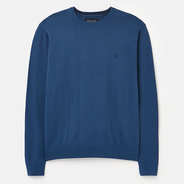 Joules Lake Blue Jarvis Crew Neck Jumper