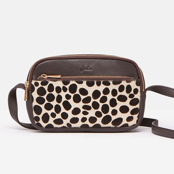 Joules Choco Farley Leather Cross Body Bag