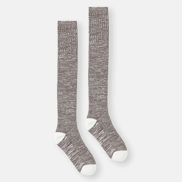 Joules Charcoal Grey Knitted Trussel Socks Size 4-8