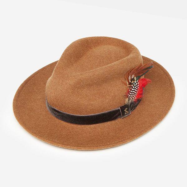 Joules Oat Fedora Felt Hat