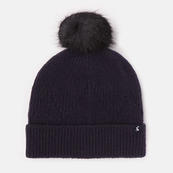Joules French Navy Thurley Knitted Hat