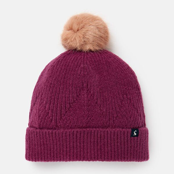 Joules Plum Thurley Knitted Hat
