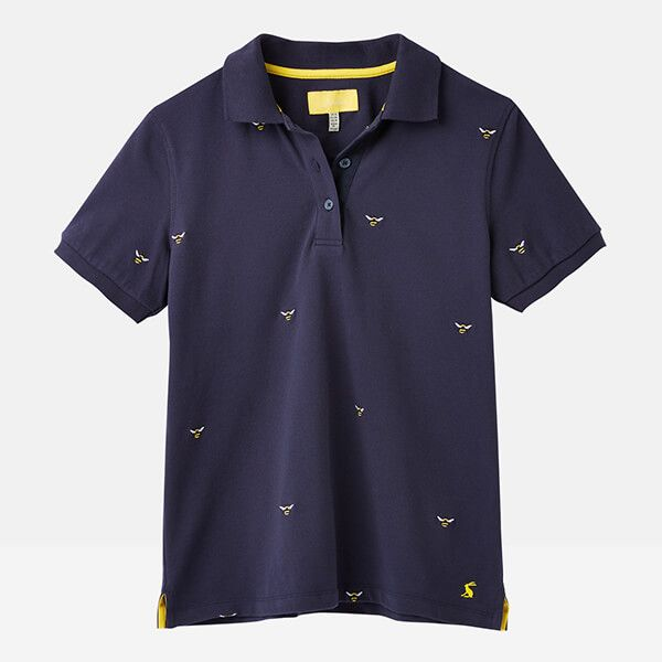 Joules Navy Bee Pippa Printed Polo Shirt