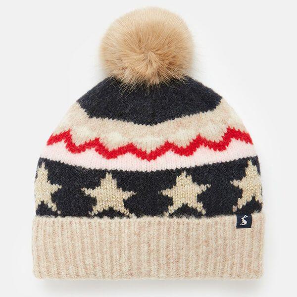 Joules Oat Fairisle Wilbury Hat