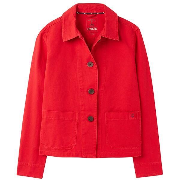 Joules English Red Devon Coastal Jacket Size 8