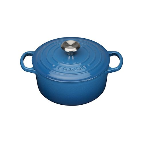 Le Creuset Signature Marseille Blue Cast Iron 18cm Round Casserole