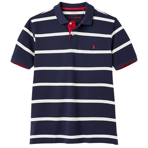 Joules Navy Stripe Filbert Striped Polo Shirt