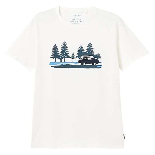 Joules Cream Flynn Graphic Tee