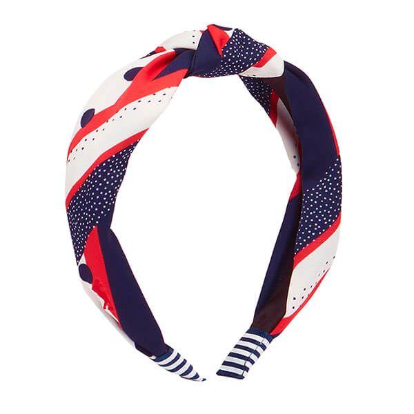 Joules Spot Stripe Lovett Printed Headband