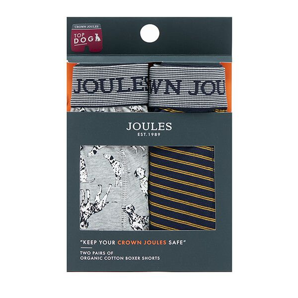 Joules Top Dog Crown Joules Pack of Two Underwear